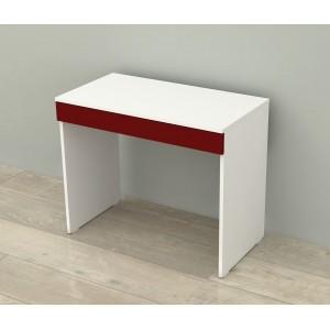 Kenyap çekmeceli çalışma masası beyaz&bordo