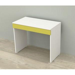 Kenyap çekmeceli çalışma masası beyaz&yeşil
